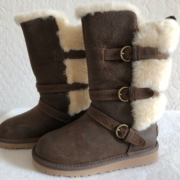Ugg Girls Glasgow Leather Boots